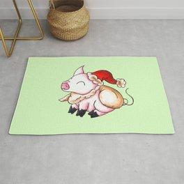 Santa Piggy Rug