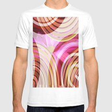 Pink Lady MEDIUM Mens Fitted Tee White
