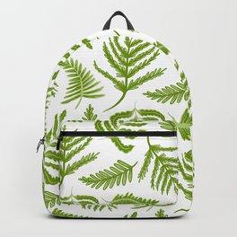 Green Fern Patttern Backpack