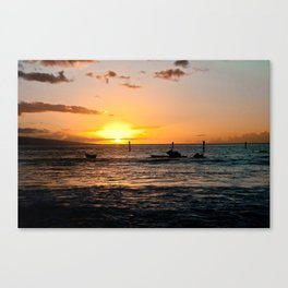 Luau at sunset Canvas Print