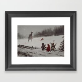 no gifts this year Framed Art Print