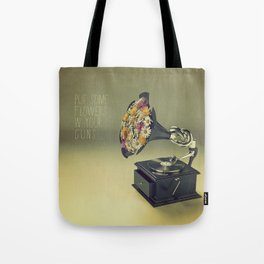 put some flowers in your guns Tote Bag