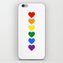 Pride Rainbow Hearts iPhone Skin