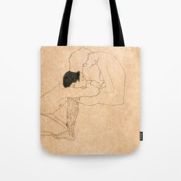 Egon Schiele Lovers Tote Bag