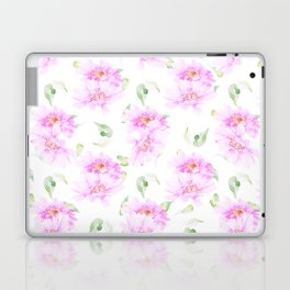 Hand painted pink lavender green watercolor floral Laptop & iPad Skin