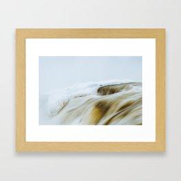 Muskrat Falls in Winter  Framed Art Print