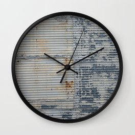 Warehouse District -- Rustic Industrial Farm Chic Abstract Wall Clock