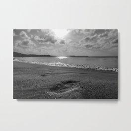 Tobago Beach - Footsteps Metal Print