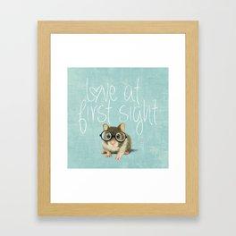 Little mouse in love Framed Art Print