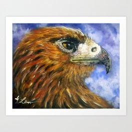 Title: Red Hawk Art Print
