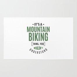 Mountain Biking Thing Rug