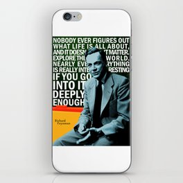 Richard Feynman Quote 1 iPhone Skin
