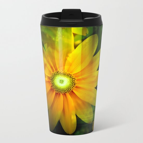 Botanical Beauty Metal Travel Mug
