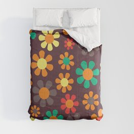 Hippy Flower Daisy Colorful Pattern Comforters