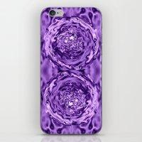 Purple Swirl Topography iPhone & iPod Skin