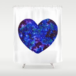 Space Heart Shower Curtain