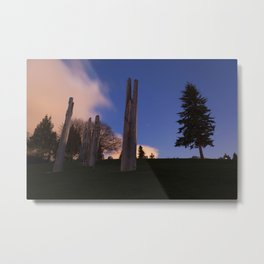 Japanese Ainu Totems at Simon Fraser University, BC Metal Print