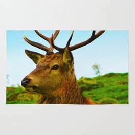 The Stag on the hill Rug