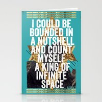 hamlet Stationery Cards featuring Hamlet Quote by Kitch&Bold