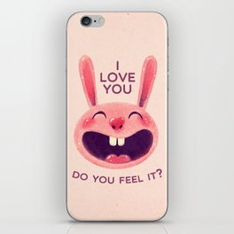 Bunny with love iPhone Skin