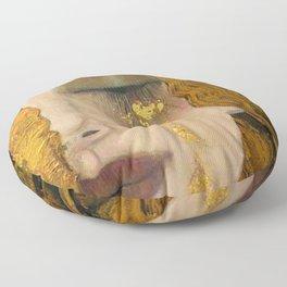 Golden Tears (Freya's Heartache) portrait painting by Gustav Klimt Floor Pillow