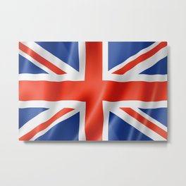 UK / British waving flag Metal Print