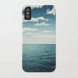 "Ocean Sky Photography, Sea Horizon Photographs, Blue Calming Seasape Print, ""The Spell of the Sea"" iPhone Case"