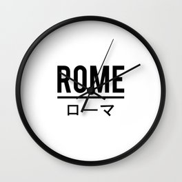 Rome In Japanese Wall Clock