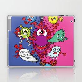 Monsters under the zipper Laptop & iPad Skin