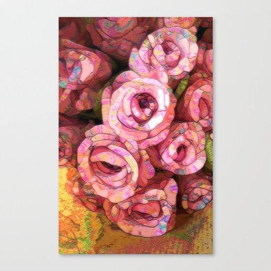 Vintage Wild Roses Canvas Print