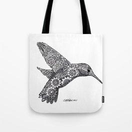 Clockwork Hummingbird Tote Bag