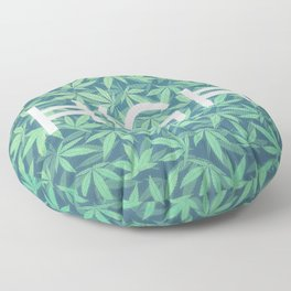 HIGH TYPO! Cannabis / Hemp / 420 / Marijuana  - Pattern Floor Pillow