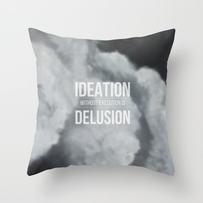 Thoughts in the clouds 01 Throw Pillow