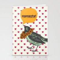 namaste Stationery Cards featuring Namaste! by Sreetama Ray