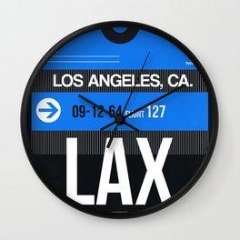 LAX Los Angeles Luggage Tag 3 Wall Clock