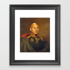 Sir Patrick Stewart - replaceface Framed Art Print