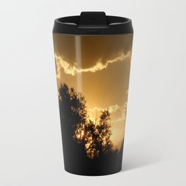 Golden Lake Sunset Travel Mug