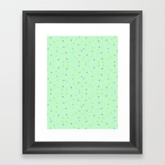MINT FLORAL Framed Art Print