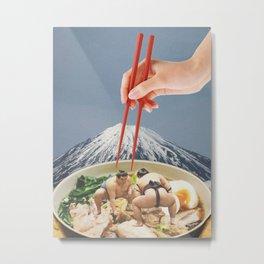 Fuji, Sumo, Ramen // Japan Love Metal Print