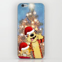 Calvin Hobbes Christmas iPhone Skin