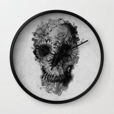 Skull 2 / BW Wall Clock