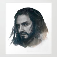 thorin Art Prints featuring thorin BnW by brilcrist