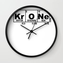 Crown King elements chemistry science Gift Wall Clock
