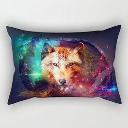 Colorfulface wolf  Rectangular Pillow