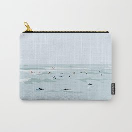 Tiny Surfers in Lima Illustrated Carry-All Pouch