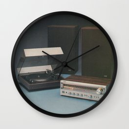 Vintage 1970's HiFi Wall Clock