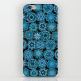 blue gems iPhone Skin