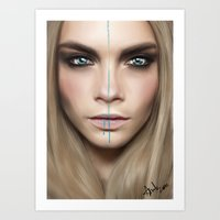 cara Art Prints featuring Cara by Anna Sun