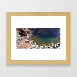 Handrail pool, Karijini National Park Framed Art Print