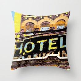 HOTEL Vintage Hometown Throw Pillow